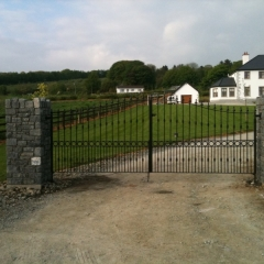 After: Piers and Gates in Place