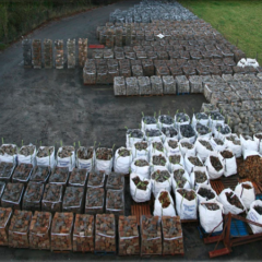 Overview of Pallet and Bagged Stone.