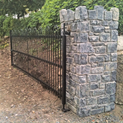 Limestone Pier With Gate Fitted